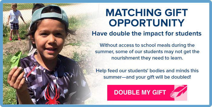 Matching Gift Opportunity - DOUBLE MY GIFT