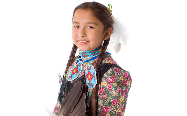 Young student in traditional dress