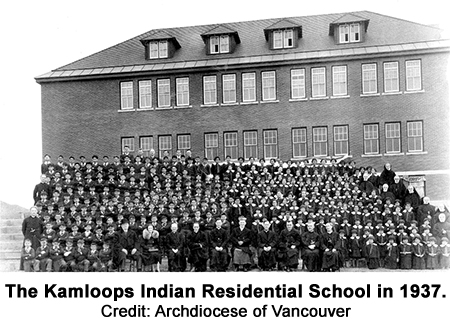The Kamloops Indian Residential School in 1937. Credit: Archdiocese of Vancouver