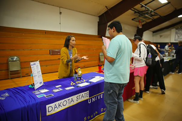 Student at the RCIS College Fair
