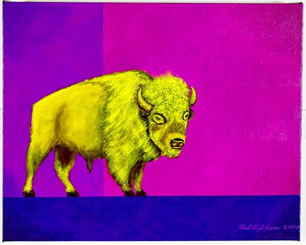 Art Show Painting of Buffalo