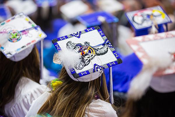 Beaded Graduation Cap